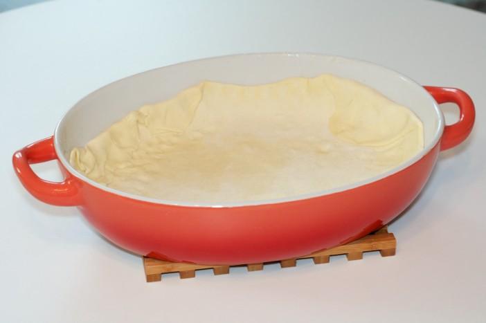 Pesto piletina s keljom rajčicom i lisnatim tijestom 1