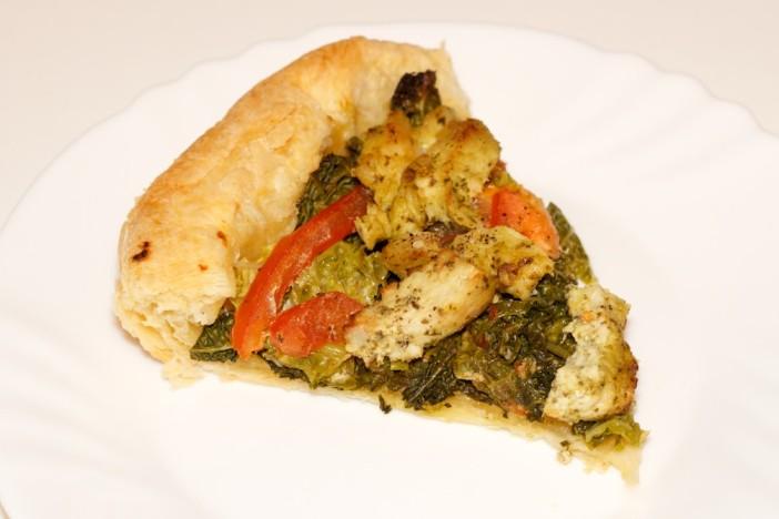 Pesto piletina s keljom rajčicom i lisnatim tijestom 7