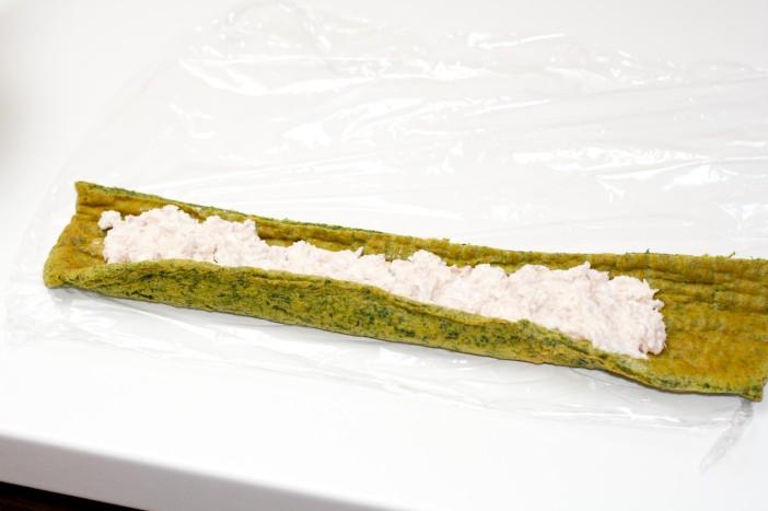 Sushi od špinata sira i tune 13