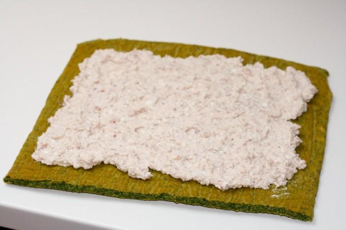 Sushi od špinata sira i tune 16