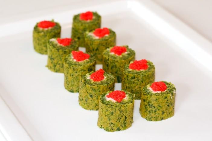 Sushi od špinata sira i tune 21