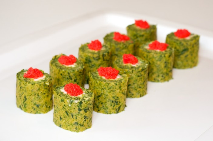 Sushi od špinata sira i tune 22