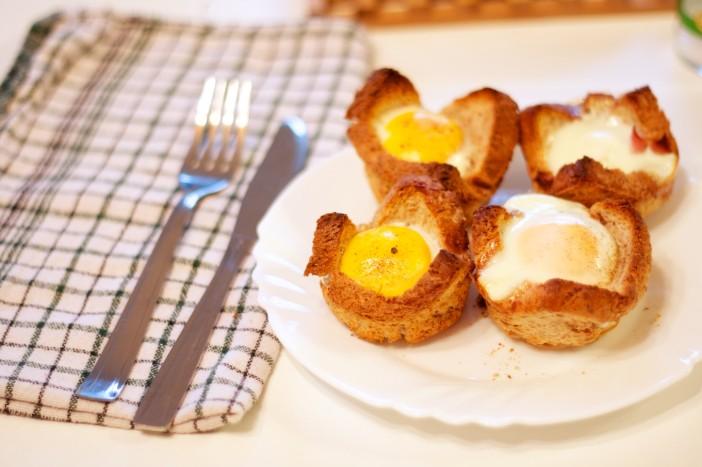 Tost muffini punjeni mortadellom i jajima 7