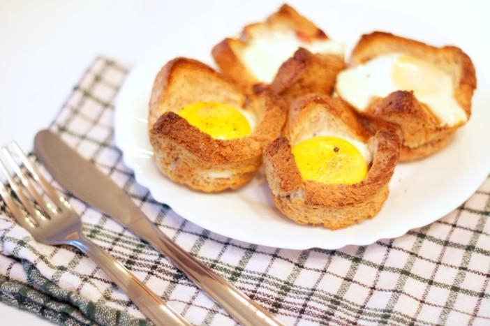 Tost muffini punjeni mortadellom i jajima 8