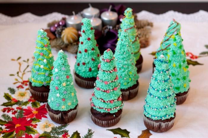 Bozicni bor cupcakeovi 10