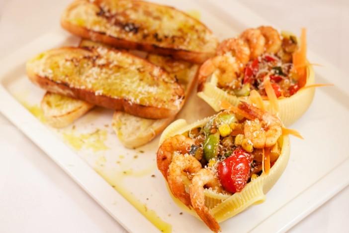 Talijanska tjestenina s povrce brusketama i parmezanom 1