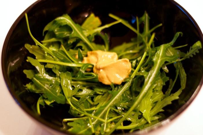 Bruschetta sa sardinama i rikulom u umaku od limuna i senfa sa slatko kiselim lukom 9