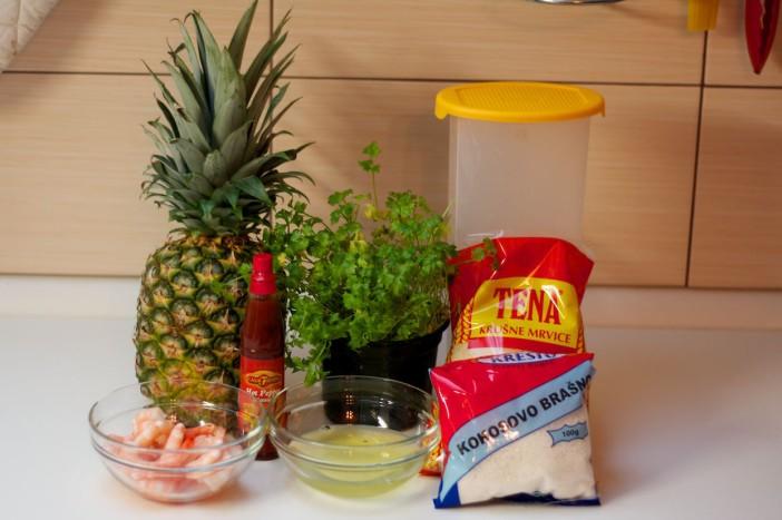 Kozice panirance u kokosu s ljutom salsom od ananasa 1