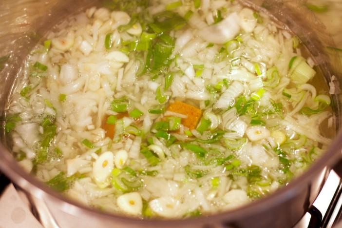 Krem juha od matovilca i graska bez krumpira brašna i vrhnja 4