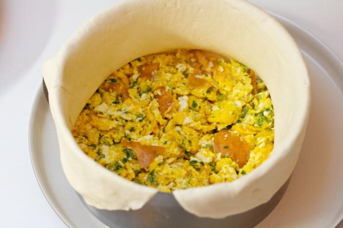 Milanez torta s šunkom jajima špinatom i sirom 11