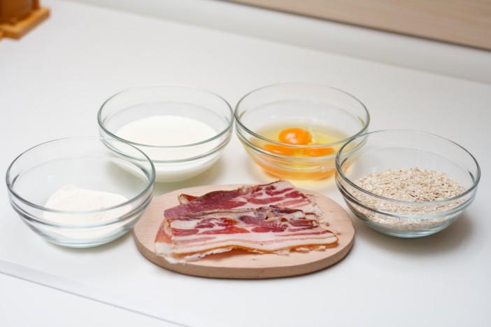 Omlet s špekom i zobenim pahuljicama 1