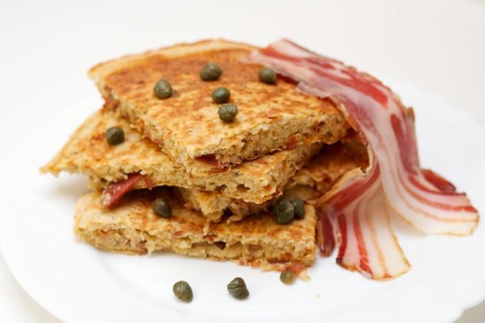 Omlet s špekom i zobenim pahuljicama 11