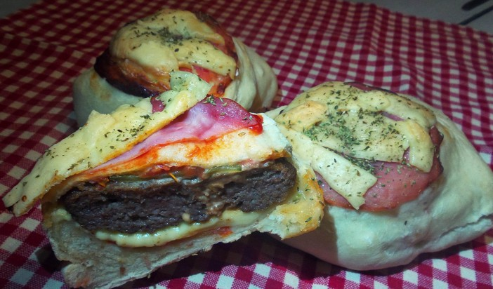 pizza cheeseburger hamburger