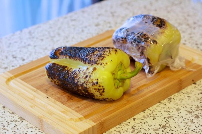 Bruschetta sa pireom od paprike przenom blitvom i srdelicama 1