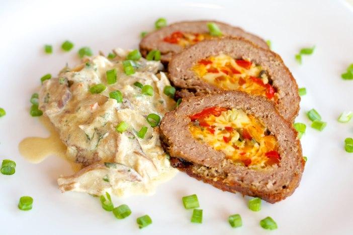Jesenska punjena mesna štruca s povrćem i sirom 22