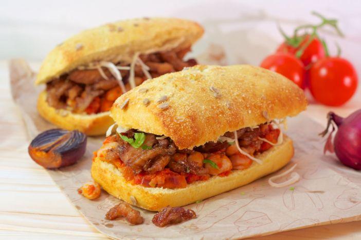 carsko meso i peceni grah u sendvicu darkova web kuharica 20