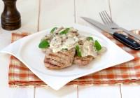 svinjski odrezak s brzim umakom od šampinjona dukat vrhnje za kuhanje