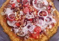 pizza na podlozi od palente