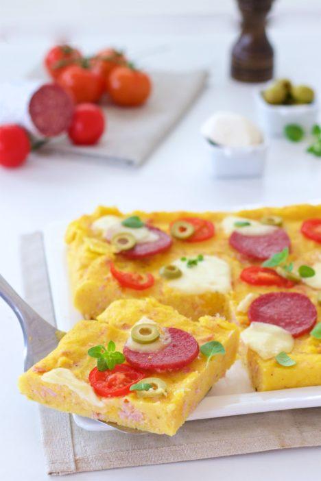 pizza s podlogom od palente