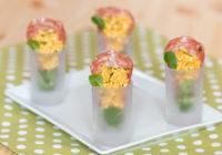 salata od kuhanih jaja i začina s Panona salamom