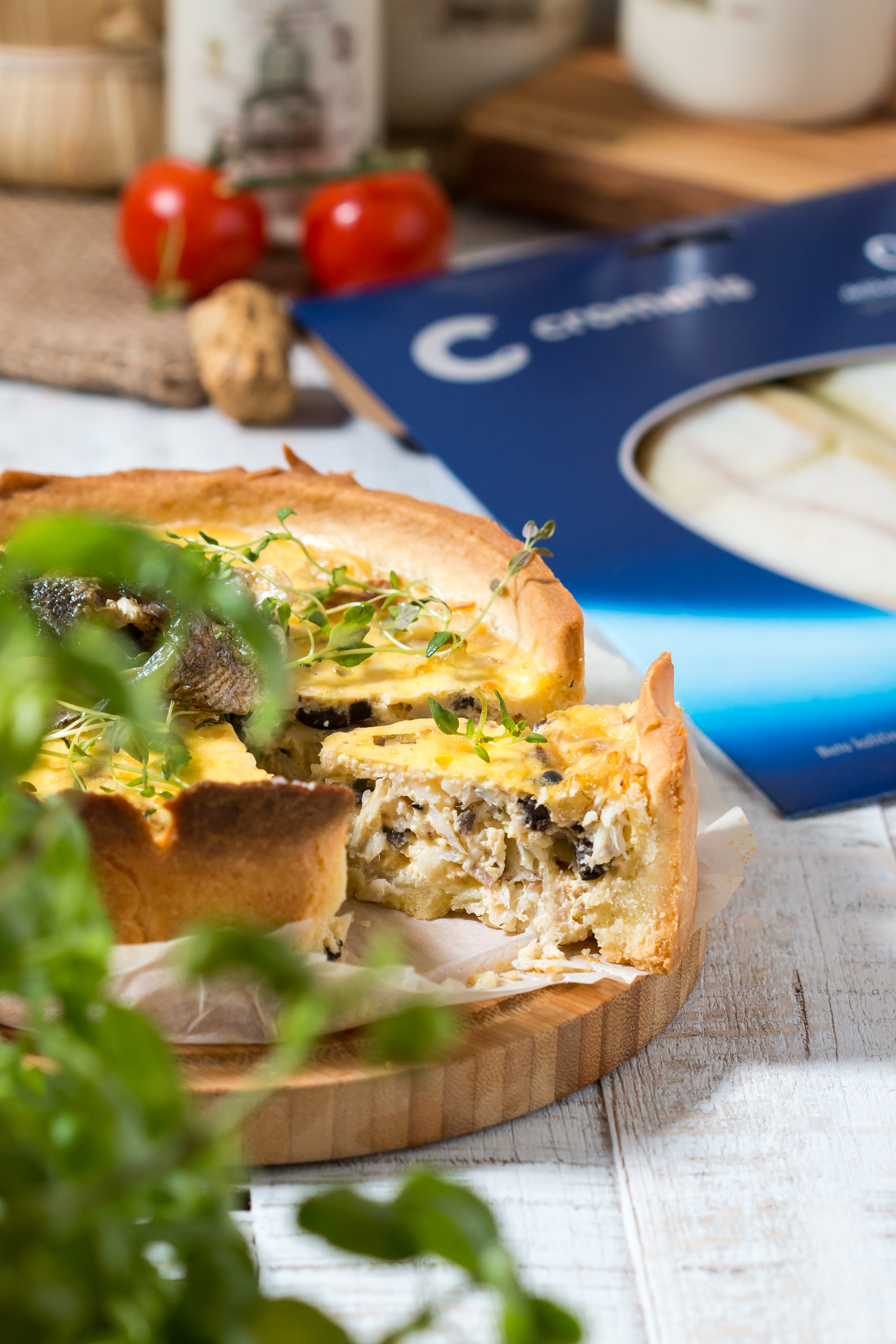 Cromaris torta quiche od fileta dimljene orade recept