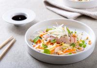 Sashimi od brancina u toploj salati Darkova Wev kuharica Cromaris recept--2