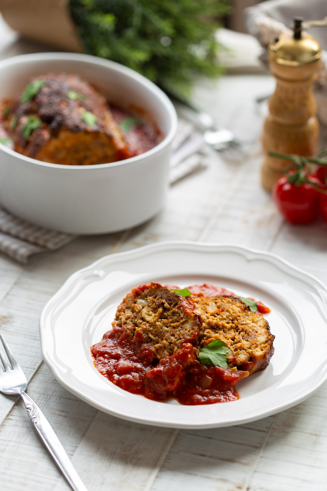 Talijanska mesa štruca pecena u salsa umaku