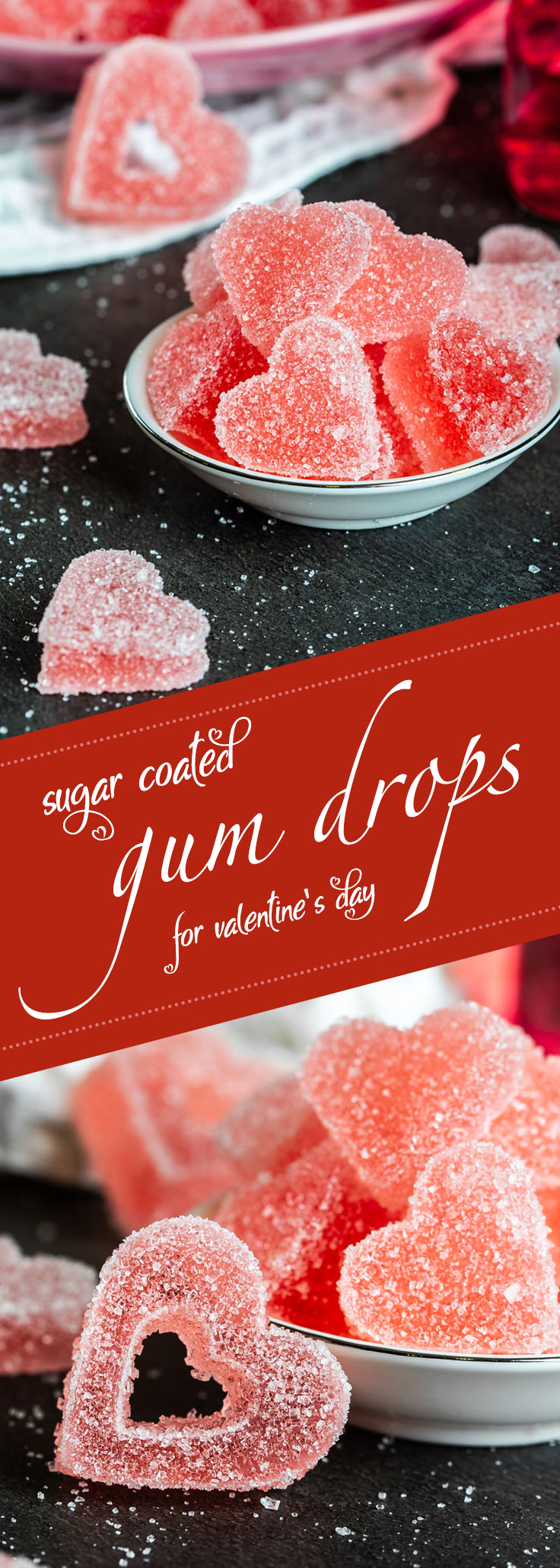 Gum drops coated in sugar Pinterest recipe card