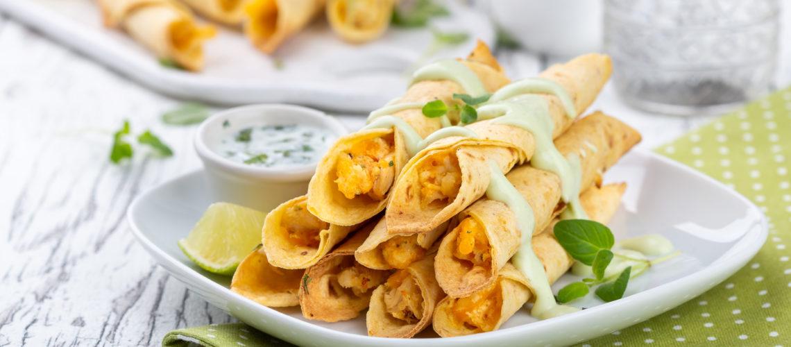 Taquitos s piletinom Darkova Web Kuharica Dukat President krem svježi sir recept