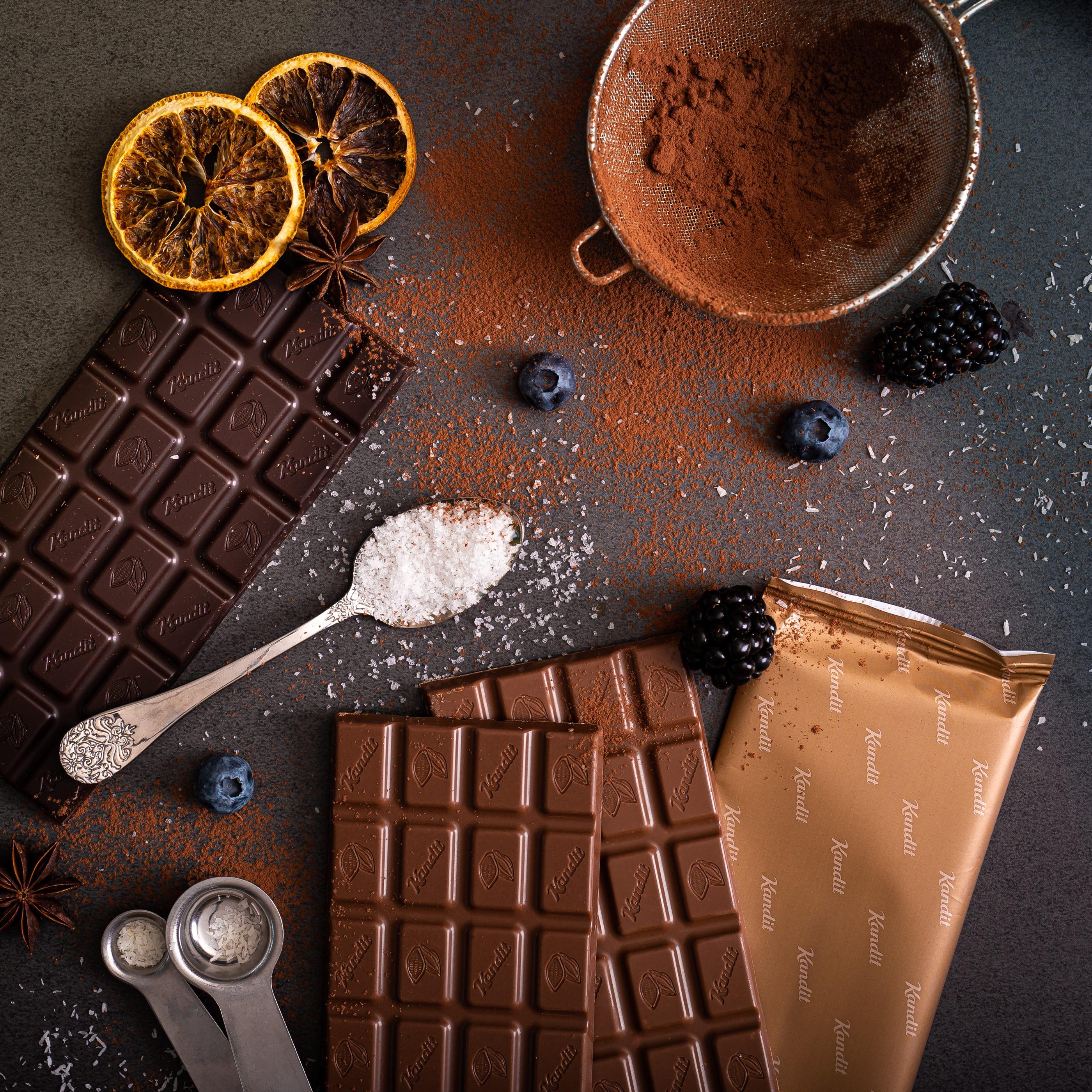 Kandit tamna čokolada bez šećera za deserte