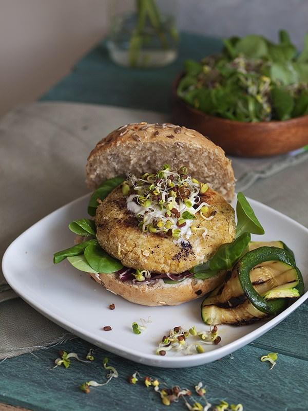 Cukar blog vege burger od slanutka