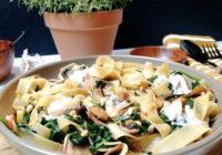 široki rezanci tjestenina s gljivama