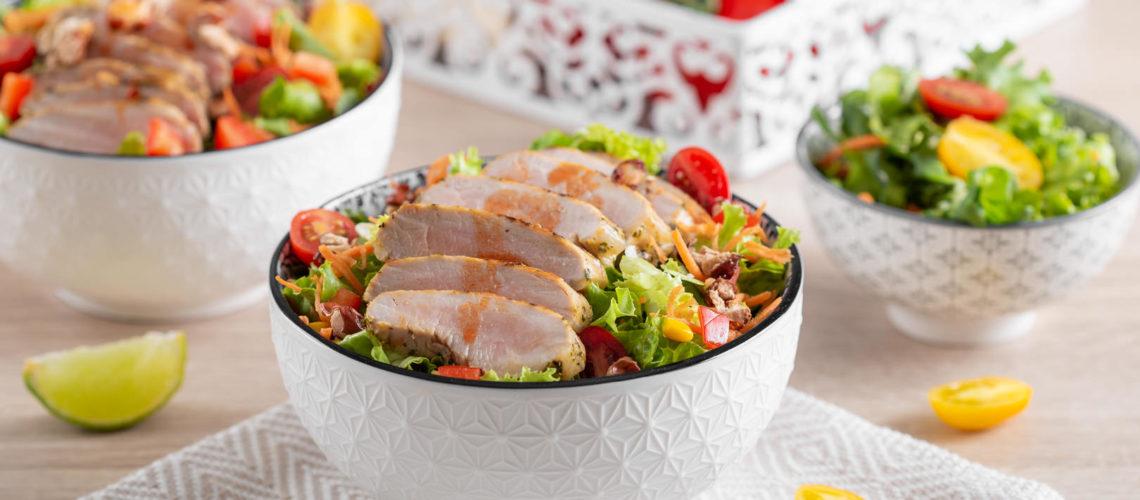 Meksička salata sa svinjskim kareom recept Darkova Web Kuharica