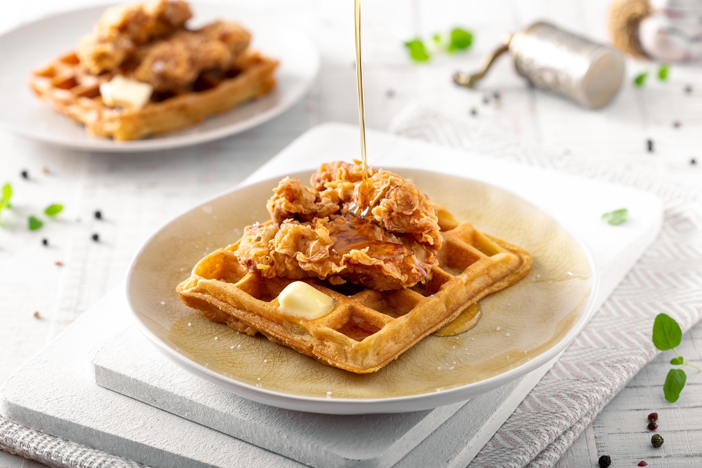 KFC pohana piletina s wafflima prelivena javorovim sirupom Međimursko pile Darko Kontin recept